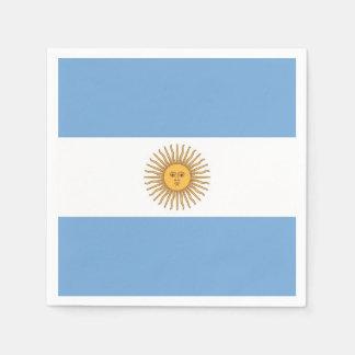 Guardanapo de papel patrióticos com a bandeira de