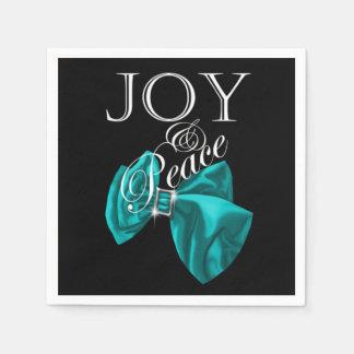 Guardanapo De Papel paz azul da alegria da fita