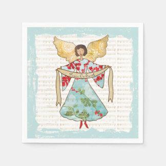Guardanapo De Papel Paz do anjo do Natal na terra