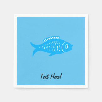 Guardanapo De Papel Peixes azuis