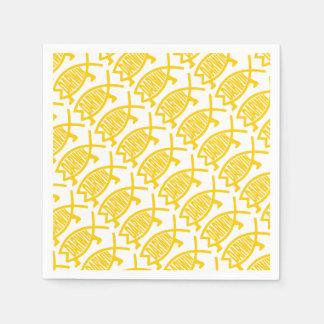 Guardanapo De Papel Peixes originais de Darwin (mostarda)