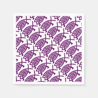 Guardanapo De Papel Peixes originais de Darwin (violetas)