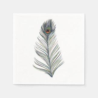 Guardanapo De Papel Pena do pavão
