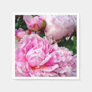 Guardanapo De Papel Peônias cor-de-rosa e brancas