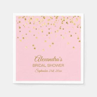 Guardanapo De Papel Personalizado cora o chá de panela do ouro do rosa
