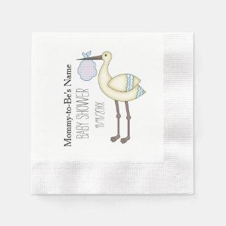Guardanapo de papel personalizados azul do chá de