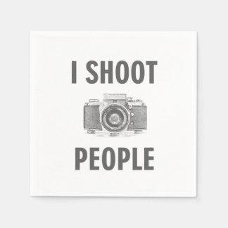 Guardanapo De Papel pessoas do fotógrafo engraçado da câmera da foto
