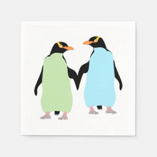 Guardanapo De Papel Pinguins do orgulho gay que guardaram as mãos