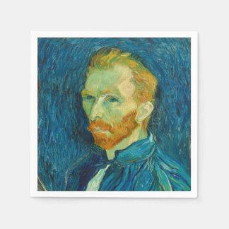 Guardanapo De Papel Pintura 1889 do retrato de auto de Vincent van