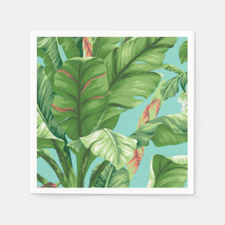 Guardanapo De Papel Pintura artística da aguarela da folha & da flor