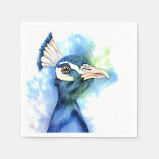 Guardanapo De Papel Pintura da aguarela do pavão