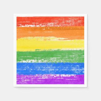 GUARDANAPO DE PAPEL PINTURA DA BANDEIRA DO ARCO-ÍRIS DE LGBT
