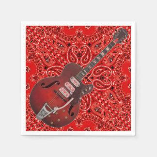Guardanapo De Papel Piquenique Paisley do CHURRASCO da música country