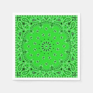 Guardanapo De Papel Piquenique verde do CHURRASCO do lenço do Bandana