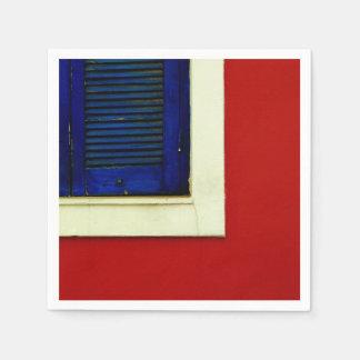 Guardanapo De Papel Placa azul da janela