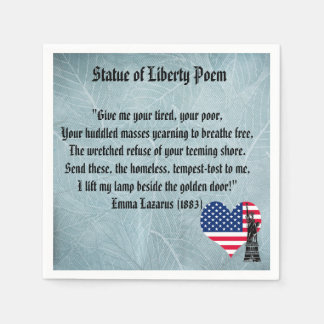 Guardanapo De Papel Poema da estátua da liberdade