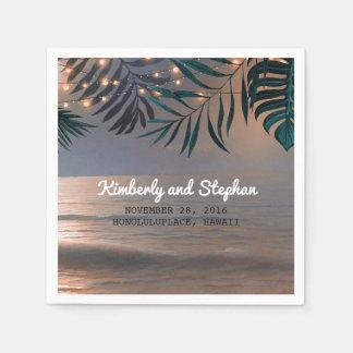 Guardanapo De Papel Por do sol da praia e casamento do destino das