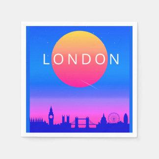 Guardanapo De Papel Poster de viagens do por do sol da skyline de