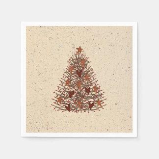 Guardanapo de papel primitivos de árvore de Natal