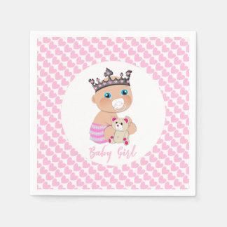 Guardanapo De Papel Princesa bonito Rega Personalized do bebê dos