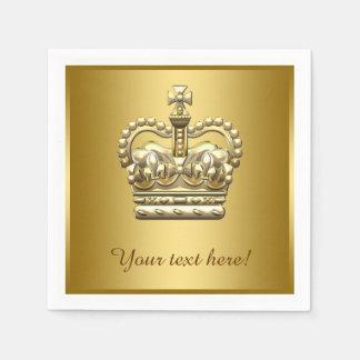 Guardanapo De Papel Príncipe real rei Ouro Coroa