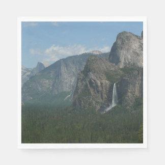 Guardanapo De Papel Quedas de Bridalveil e meia abóbada em Yosemite