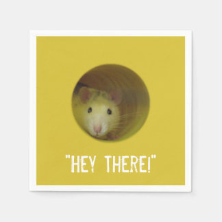 Guardanapo De Papel Rato bonito no animal engraçado do furo