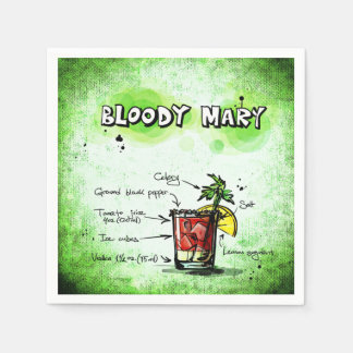 Guardanapo De Papel Receita da bebida do Bloody Mary