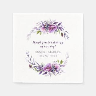 Guardanapo De Papel Recepção roxa violeta dos Wildflowers da lavanda |