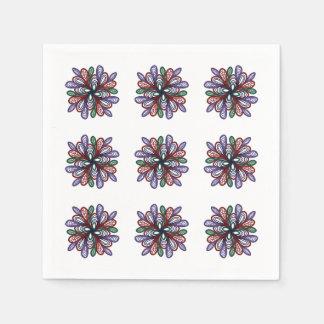 Guardanapo De Papel Redemoinhos florais espirais