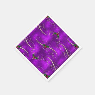 Guardanapo De Papel Redemoinhos românticos do Natal do Lilac