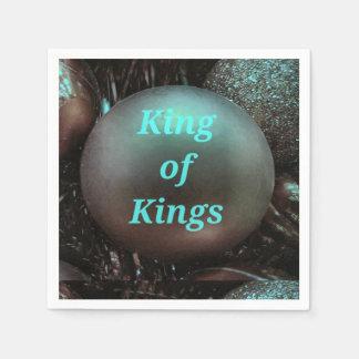 Guardanapo De Papel Rei azul Brassy dos reis Circular Bola
