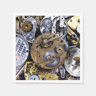 Guardanapo De Papel Relógio de bolso do Victorian do vintage do