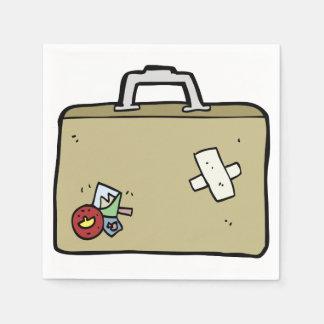 Guardanapo de papel remendados da bagagem