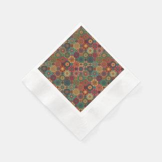 Guardanapo De Papel Retalhos do vintage com elementos florais da
