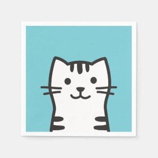 Guardanapo De Papel Retrato engraçado do gato