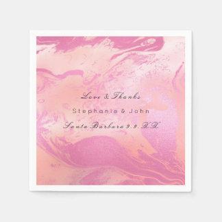 Guardanapo De Papel Rosa cor-de-rosa derretido do vidro do mármore da