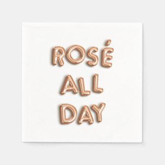 Guardanapo De Papel Rosé o dia inteiro