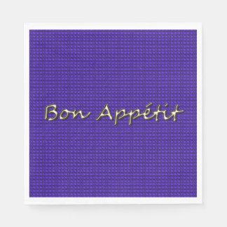 """Guardanapo De Papel Royal_Party-Supplies_Gold- """"Bon Appétit """""""