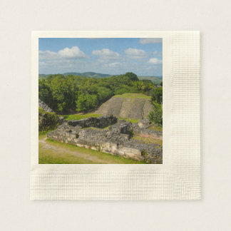 Guardanapo De Papel Ruína maia de Xunantunich em Belize