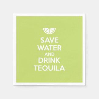 Guardanapo De Papel Salvar a água e beba o Tequila