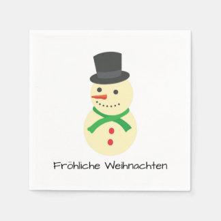 Guardanapo De Papel Schneemann Fröhliche Weihnachten