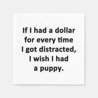 Guardanapo De Papel Se eu tive um dólar