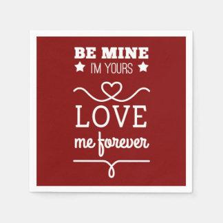 Guardanapo De Papel Seja meu que eu sou seu, me amo para sempre