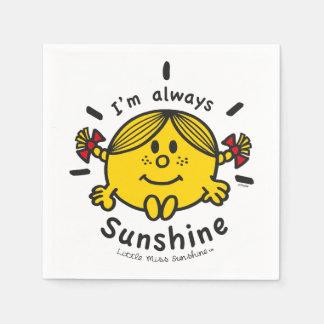Guardanapo De Papel Senhorita pequena Luz do sol | eu sou sempre luz