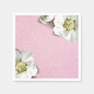 Guardanapo De Papel Sequin branco Pastel do brilho do jasmim do rosa