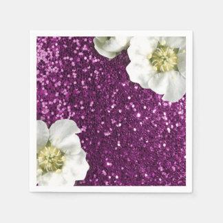 Guardanapo De Papel Sequin cor-de-rosa Amethyst roxo do brilho do