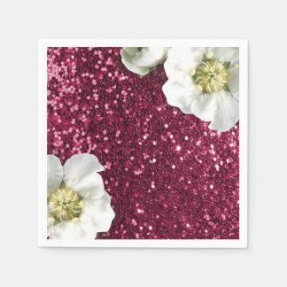 Guardanapo De Papel Sequin cor-de-rosa Sparkl do brilho do jasmim de