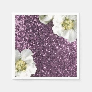 Guardanapo De Papel Sequin Sparkly Amethyst roxo do brilho do jasmim
