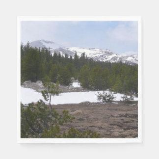 Guardanapo De Papel Serra montanhas e neve de Nevada em Yosemite